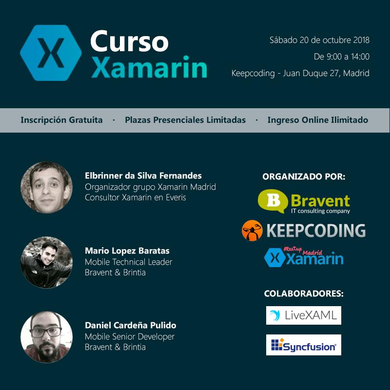 ¡Apúntate a nuestro curso de Introducción a Xamarin Forms!