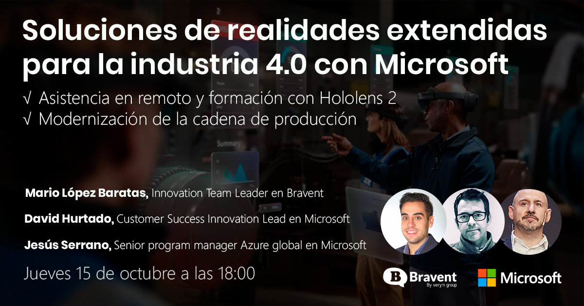 Webinar: Soluciones de realidades extendidas para la industria 4.0 con Microsoft